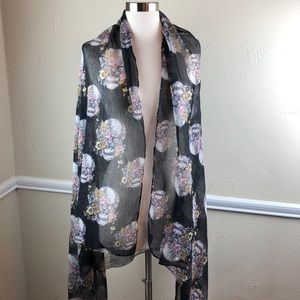 Day of the Dead Scarf/Wrap- Dia de los Muertos